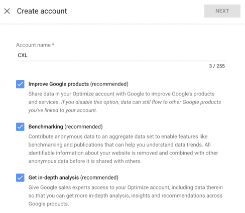 ابزارهای گوگل,تست a/b,راه اندازی گوگل آپتیمایز