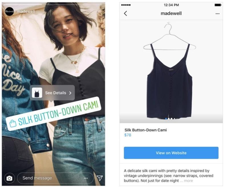 instagram story shopping قابلیت خرید در استوری اینستاگرام