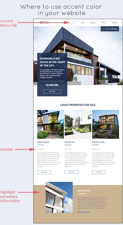 نحوه استفاده صحیح از رنگ های تاکیدی و اصلی در سایت